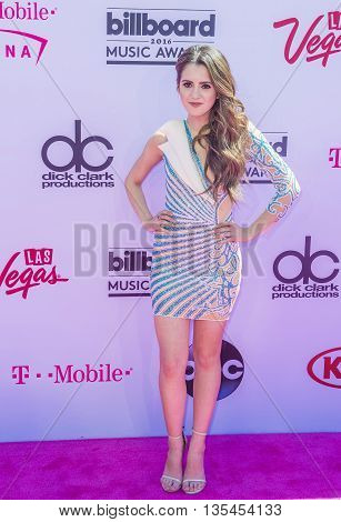 LAS VEGAS - MAY 22 : Actress/Singer Laura Marano attends the 2016 Billboard Music Awards at T-Mobile Arena on May 22 2016 in Las Vegas Nevada.