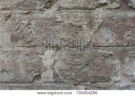 texture of the old red brick background