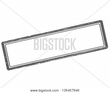 Rubber stamp with no text inside vector illustration