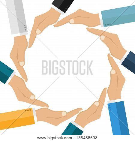 Human Hands Making Circle