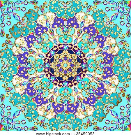 Mandala decoration,  design element. Hand drawn  style decor for