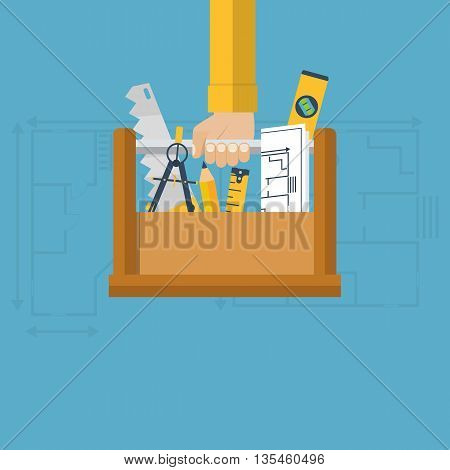 Architect With Toolbox, Vector