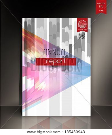 Cover design. The modern concept of cover design in the polygonal style. Photorealistic vector image covers for books, notebooks, annual report. T