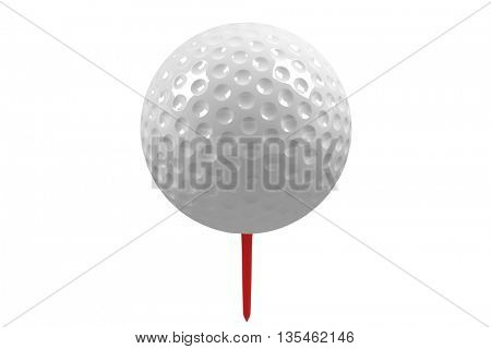 View of an isolated golf ball