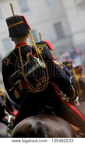 Kings Troop Royal Horse Artillery London England