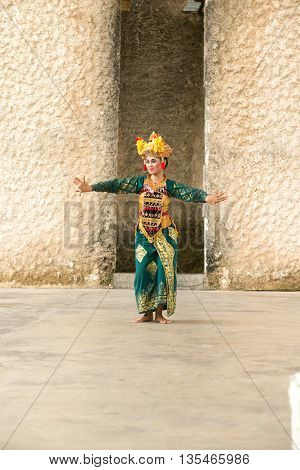 GWK, Bali Indonesia - May 14, 2013 - Barong Dance show, the traditional Balinese performance on May 14, 2013.