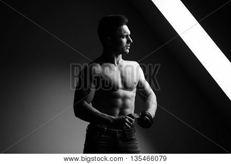 Sexy Muscular Man With Belt