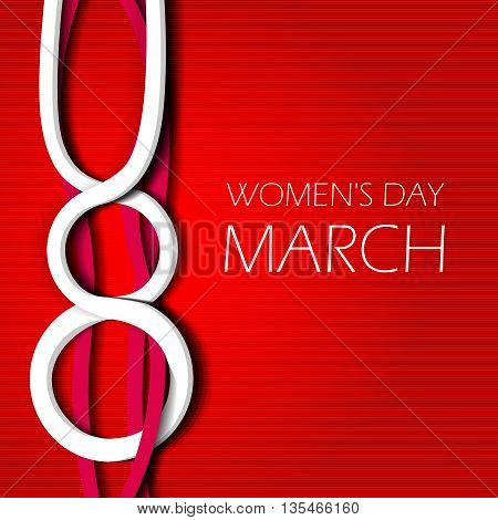 Design vector illustration celebratory Women's Day. Poster