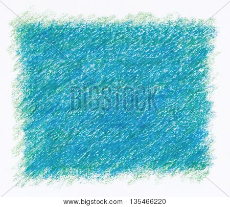 intense blue close up rough textures red crayon abstract background