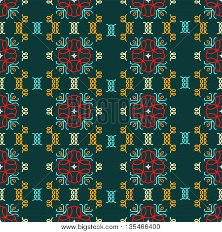 Beautiful geometric seamless pattern. Can be used for textiles wallpaper surfaces site design and as a background for cards and invitations