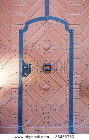 Old Wooden Door With Rhombus