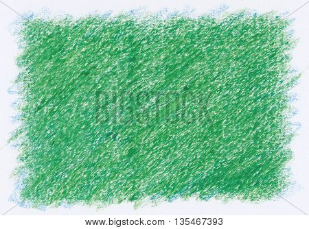 intense green close up rough textures red crayon abstract background