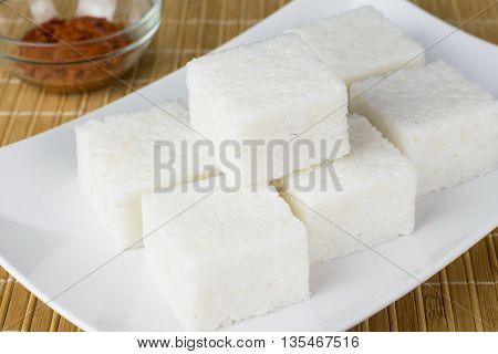 Sri Lankan style milk rice or kiribath