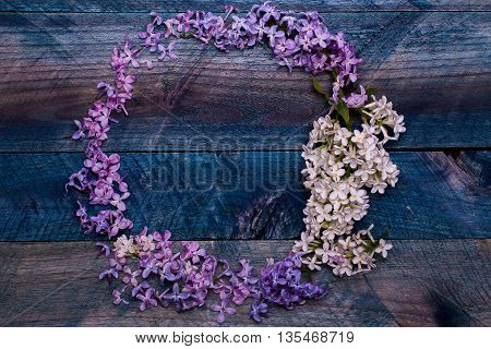 Lilac Flowers Decorative Wreath