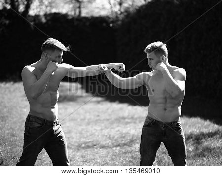 Two Men Fight In Match