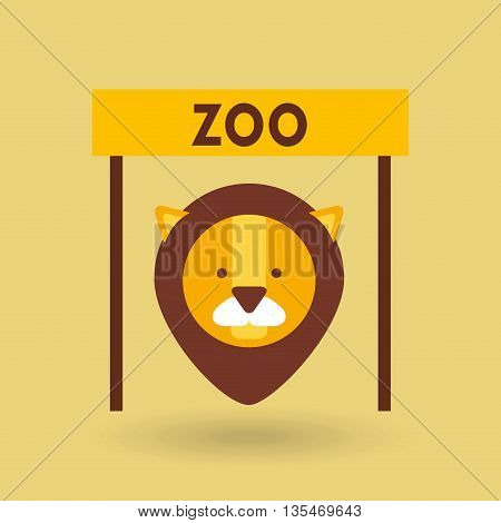 zoo animals  design, vector illustration eps10 graphic