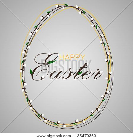 Vector illustration. Holiday Happy Easter design poster.