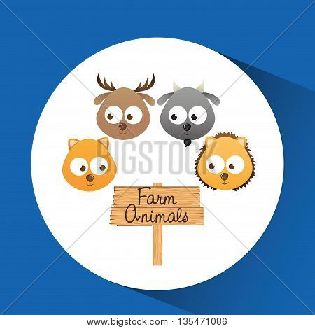 cute animals design, vector illustration eps10 graphic
