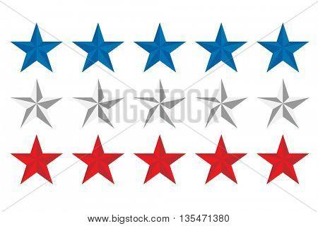 American flag design border