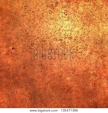 Orange background texture with shiny light - abstract terracotta wall