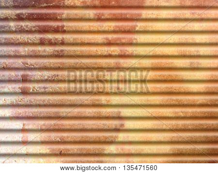 Yellow orange grunge background with corrugated metal texture