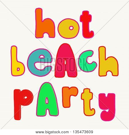 Bright Summer Party Lettering