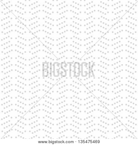 Geometric ornament with grey dotted pattern. Seamless abstract background