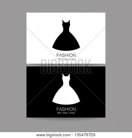 Fashion logo template. Concept business card design for fashion shop, boutique, factory on tailoring, fashion show, dress shop, and etc. Vector graphic illustration.