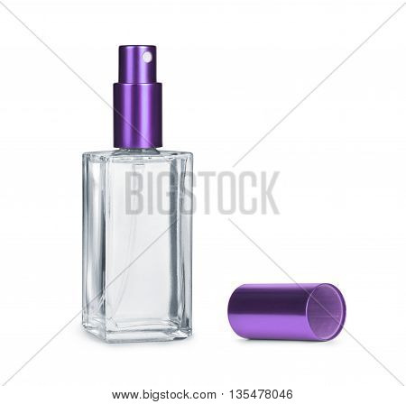 Perfume bottle isolated on a white background