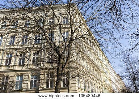 beautiful old houses in Berlin Kreuzberg in spring