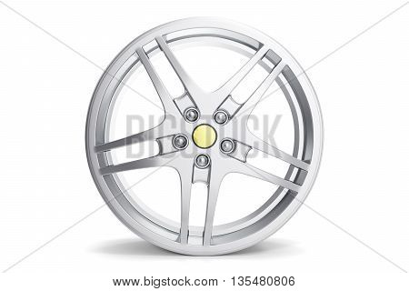 Rim car disc isolated on white background. 3d illustration
