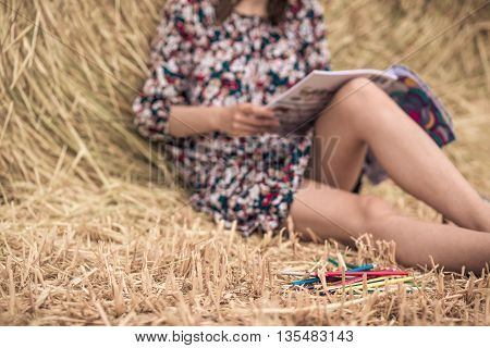 Coloring In The Village On The Hay