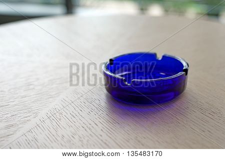 Empty Blue Ashtray