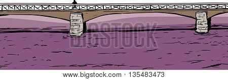 Person On Bridge Over Water