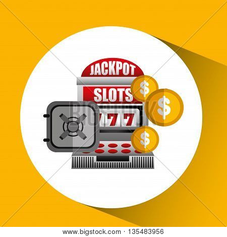 jackpot machine design, vector illustration eps10 graphic