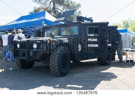 Armored Rescue Police Vehicle During Los Angeles American Heroes Air Show