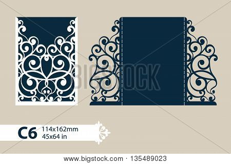 The layout of the cards in three additions. The template is suitable for greeting cards invitations menus etc. the picture suitable for laser cutting or printing. Vector