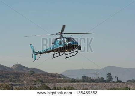 Eurocopter As350 Helicopter During Los Angeles American Heroes Air Show