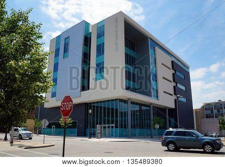 JOLIET, ILLINOIS / UNITED STATES - JUNE 3, 2015: The City Center Campus of Joliet Junior College stands in downtown Joliet.