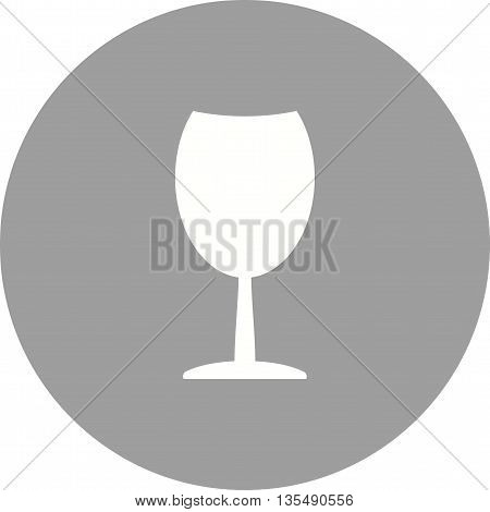 Wine, glass, alcohol icon vector image. Can also be used for kitchen. Suitable for use on web apps, mobile apps and print media.