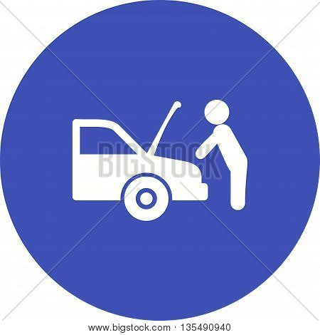 Car, mechanic, engine icon vector image. Can also be used for car servicing. Suitable for use on web apps, mobile apps and print media.