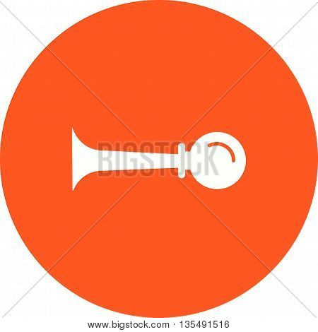 Horn, car, sound icon vector image. Can also be used for car servicing. Suitable for use on web apps, mobile apps and print media.