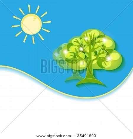 abstract vector environmental  design with copy space. Vector concept Go Green. Eps10