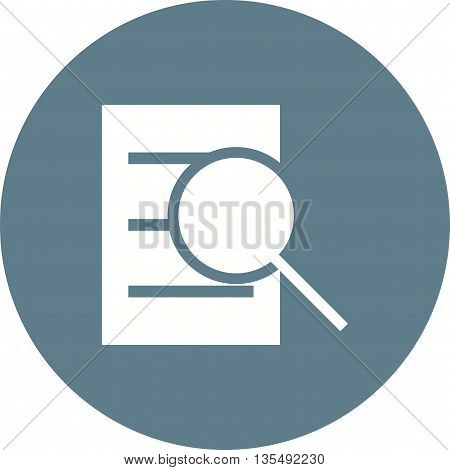 Finding, document, financial icon vector image. Can also be used for data sharing. Suitable for use on web apps, mobile apps and print media.