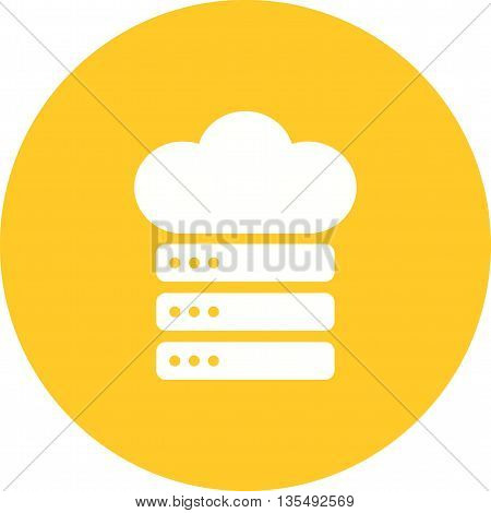 Cloud, network, data icon vector image.Can also be used for data sharing. Suitable for mobile apps, web apps and print media.