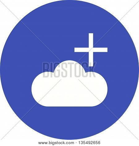 Cloud, search, add icon vector image.Can also be used for data sharing. Suitable for mobile apps, web apps and print media.