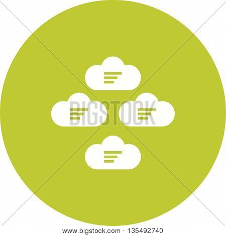 Cloud, group, network icon vector image.Can also be used for data sharing. Suitable for mobile apps, web apps and print media.