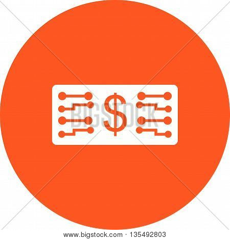 Digital, currency, money icon vector image. Can also be used for digital web. Suitable for use on web apps, mobile apps and print media.