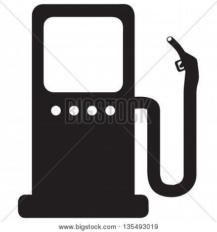 Gas Pump Icon black image petrol desil