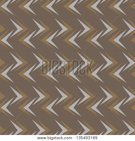 Seamless abstract vector pattern texture on brown background